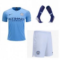 Manchester city home soccer full kit