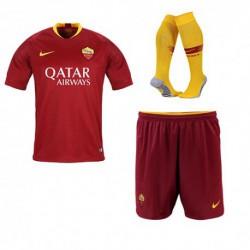 As roma home soccer full kit