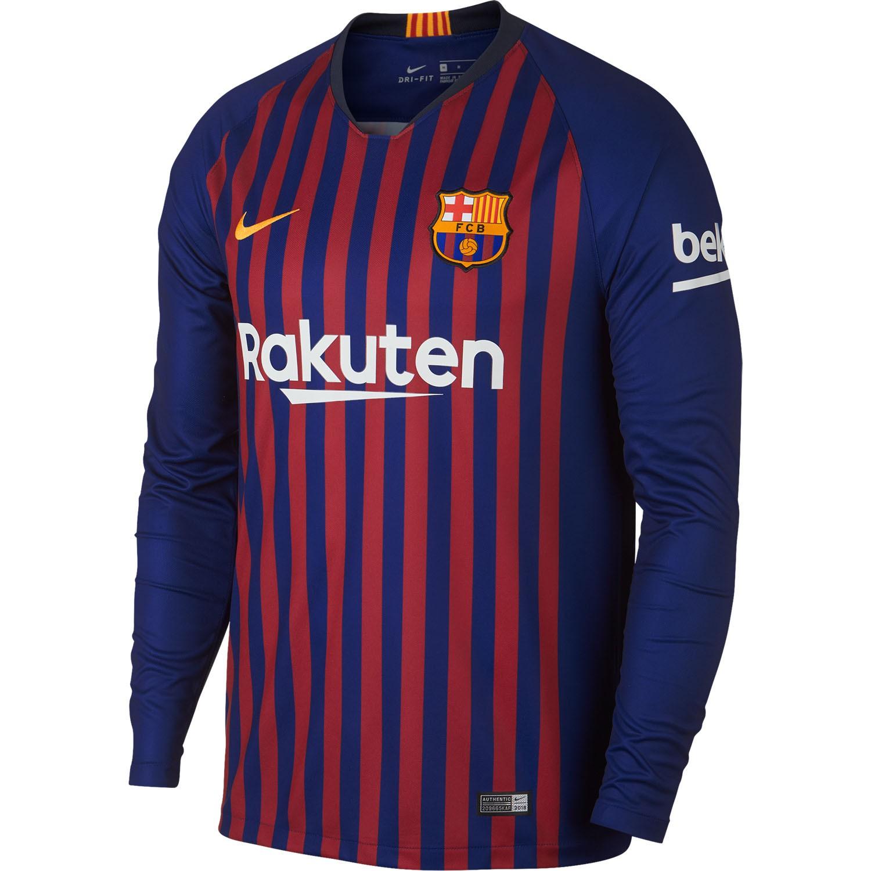 newest a2c1f 0e93f Barcelona Home Kit 512x512,Barcelona New Home Kit,Barcelona Home Long  Sleeve Jersey 2018-2019