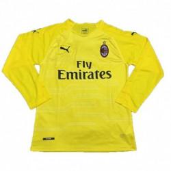 2018-2019 AC Milan Yellow Goalkeeper Long Sleeve Soccer Jerse