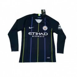 2018-2019 manchester city away long sleeve soccer jerse