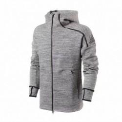 Adidas grey z.n.e. fast release hoodie jacket top 2018-201