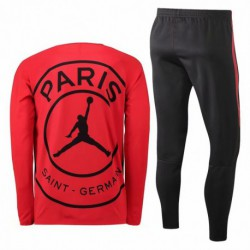 Paris jordan red training suit 2018-201