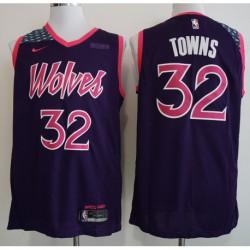 Men NBA Minnesota Timberwolves 32 Towns Statement Swingman Jersey-201