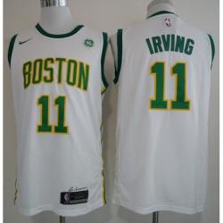 Men NBA Boston Celtics 11 Irving Statement Swingman Jersey-201