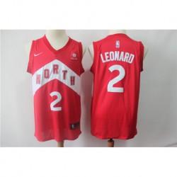 Men NBA Toronto Raptors 2 Leonard Red Jersey-201