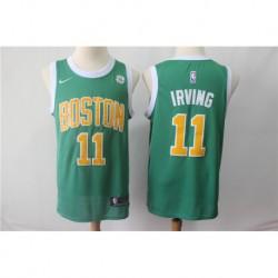 Men NBA Boston Celtics 11 Irving Statement Swingman Jersey-Gree