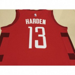 Men NBA Houston Rockets 13 Harden Red Jerse