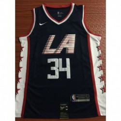 Men NBA Los Angeles Clippers 34 HARRIS Simmons Swingman City Edition Jerse