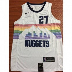 Men NBA Denver Nuggets 27 Murray Simmons Swingman City Edition Jerse