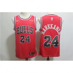 Men NBA Chicago Bulls 24 Markkanen Swingman City Edition Jersey-201