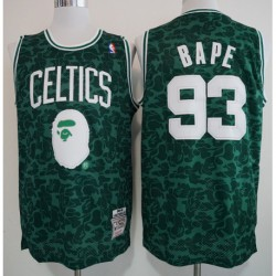 Men NBA 93 BAPE Chicago Bulls Los Angeles Lakers Boston Celtics Retro Version Jerse