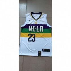 Men NBA New Orleans Pelicans 23 Davis Simmons Swingman City Edition Jerse