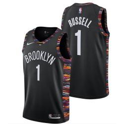 Men NBA Brooklyn Nets 1 Russell Simmons Swingman City Edition Jerse