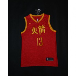 Men NBA Houston Rockets 13 Harden Swingman City Edition Jerse
