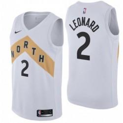 Men NBA Toronto Raptors 2 Leonard Swingman Icon Jersey-201