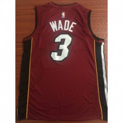 Men NBA Miami Heat 3 Wade Swingman City Edition Jerse