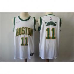 Men NBA Boston Celtics 11 Irving Statement Swingman Jerse