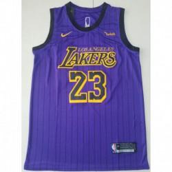 NBA Lakers Jersey 2018,NBA 2k14 Lakers Jersey,Men NBA Los Angeles Lakers 23 LeBron James Retro version Jersey-2018