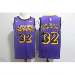 Men NBA Los Angeles Lakers 32 Johnson Icon Edition Swingman Jersey-201