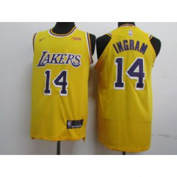 Men NBA Los Angeles Lakers 14 Ingram Icon Edition Swingman Jersey-2018-3 colo