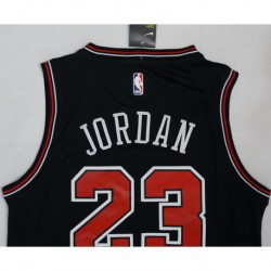 Men NBA Chicago Bulls 23 Jordan Swingman City Edition Jersey Blac