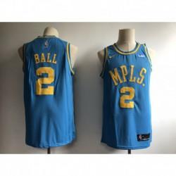 Men NBA Lakers 2 Ball Icon Edition Swingman Jerse