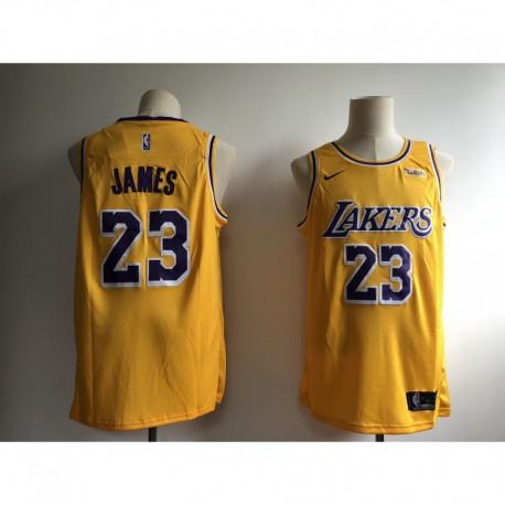 NBA 2k18 Lakers Jersey,Lakers NBA Jersey Nike,Men NBA Los Angeles Lakers LeBron James 23 Icon Edition Swingman Jersey -3 Color
