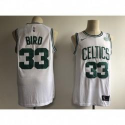 Men NBA Boston Celtics 33 Bird Statement Swingman Jerse
