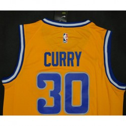 Men NBA Golden State Warriors 30 Stephen Curry Retro Version Jerse