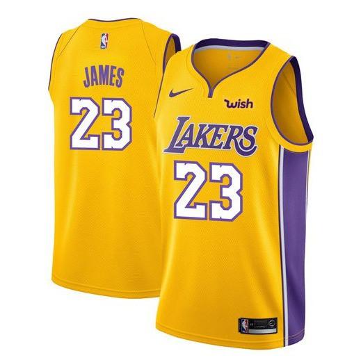 Lakers Black Jersey NBA 2k14,New Nike NBA Jerseys Lakers,Men NBA 2018-19 LeBron James Lakers 23 Icon Edition Swingman Jersey -