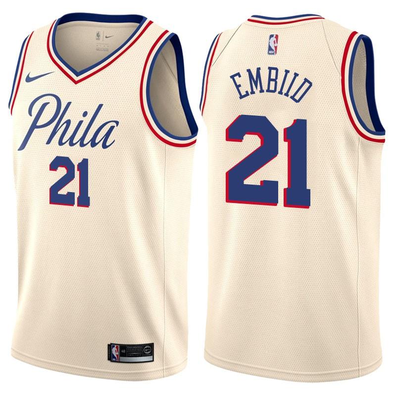 NBA Replica Jerseys Cheap,Best Cheap NBA Jersey Site,Joel Embiid Philadelphia 76ers City Edition Jersey
