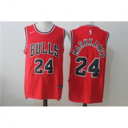 Joelauri Markkanen 24 Chicago Bulls Nike 2017 NBA Draft 1 Pick Replica Jersey - red/Black,chicago bull