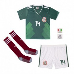 Mexico youth home soccer jersey full kits 201