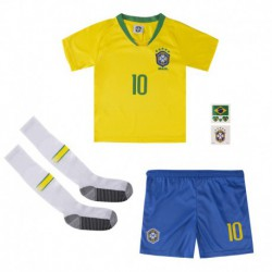Neymar jr brazil youth home soccer jersey full kits 201