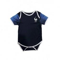 Baby France Black Soccer Infant Crawl Suit 201