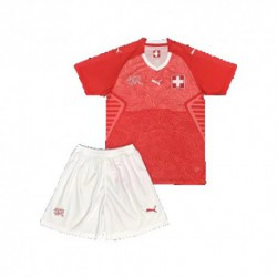 Switzerland kid 2018 world cup home suit