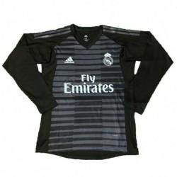2018-2019 real madrid black goalkeeper long sleeve soccer jerse