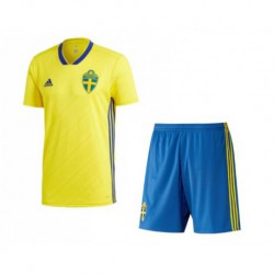 Sverige/Sweden kid 2018 world cup home suit