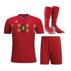 Youth belgium 2018 world cup jersey full kit