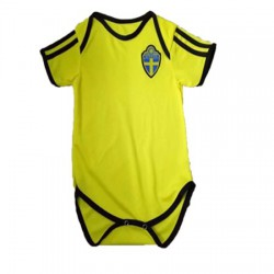 Baby Sverige Soccer Infant Crawl Suit 201
