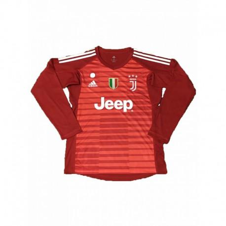 2018-2019 juventus red goalkeeper long sleeve soccer jerse