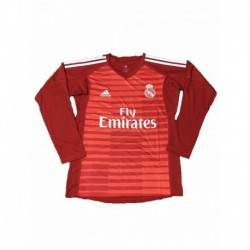 2018-2019 real madrid red goalkeeper long sleeve soccer jerse
