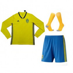 Sverige 2018 world cup home long sleeve full suit