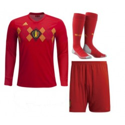 Belgium 2018 world cup jersey long sleeve full kit