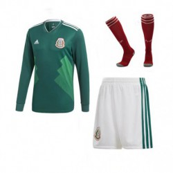 Mexico home world cup 2018 long sleeve full kits