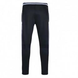 Denmark white edge black training long lace-up pants 2016-1