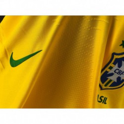 Brazil Home Yellow Jersey Player Version 201