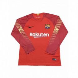 2018-2019 barcelona orange goalkeeper long sleeve soccer jerse