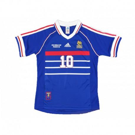 France 1998 Zidane Shirt France 98 Shirt Zidane Zidane Retro France Home Dark Blue Version 1998